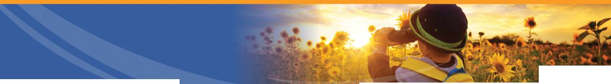 Enteris BioPharma silhouetted boy with binoculars looking at sunflower field